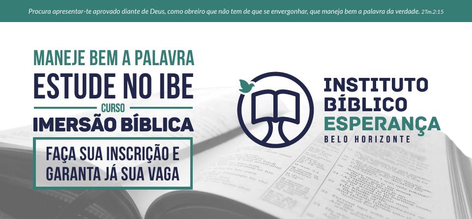 Curso de Imersão Bíblica – Instituto Bíblico Esperança